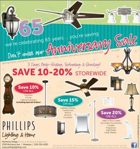 Phillips Lighting Anniversary Sale