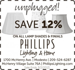 Unplugged savings on all lamp shades and finials