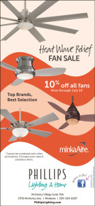 The Heat Goes On Save on Fans