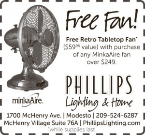 Free retro table top fan with $249 purchase
