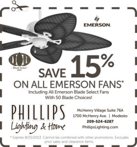 Emerson Fan Sale