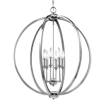 Feiss F3061-6 PN Corinne Orb chandelier with crystal inlay