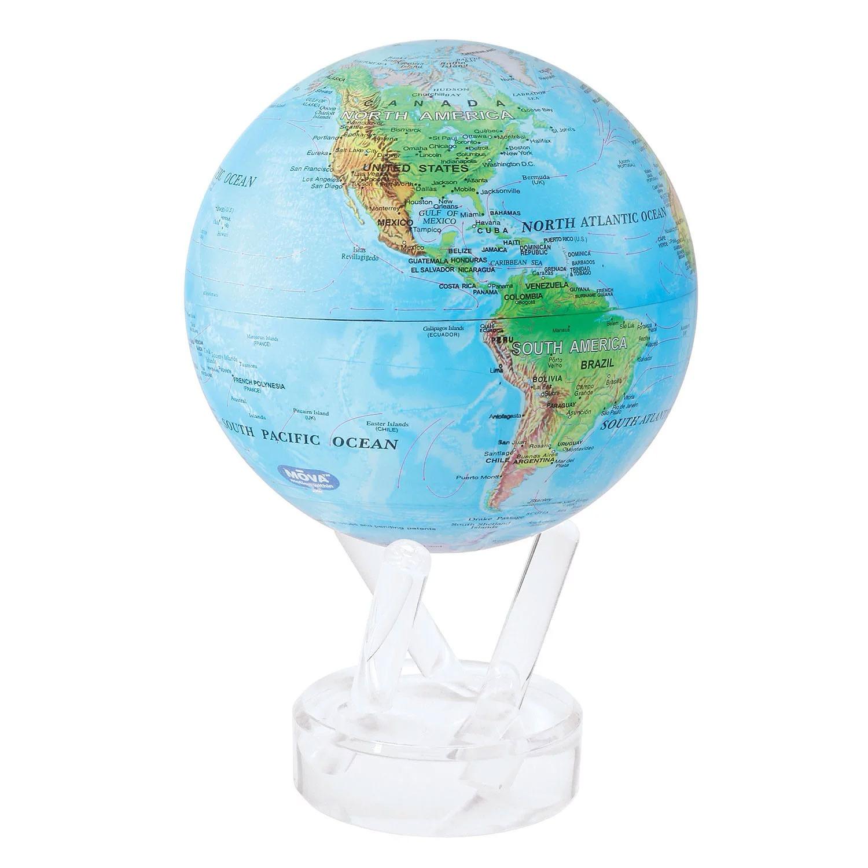 Blue Relief Mova Globe