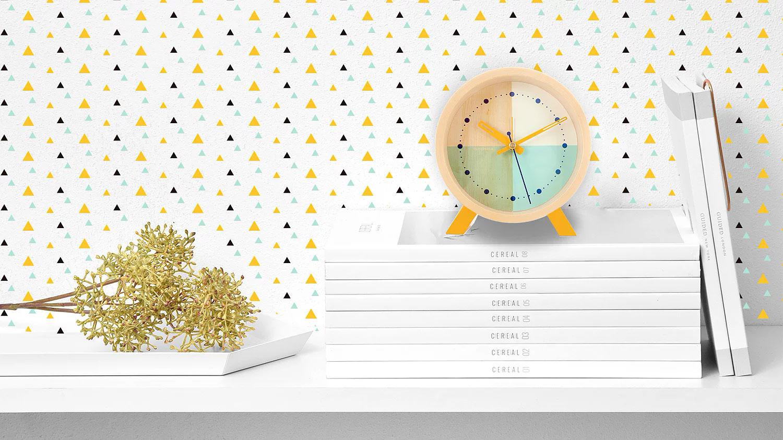Flor Turquoise Desk Clock