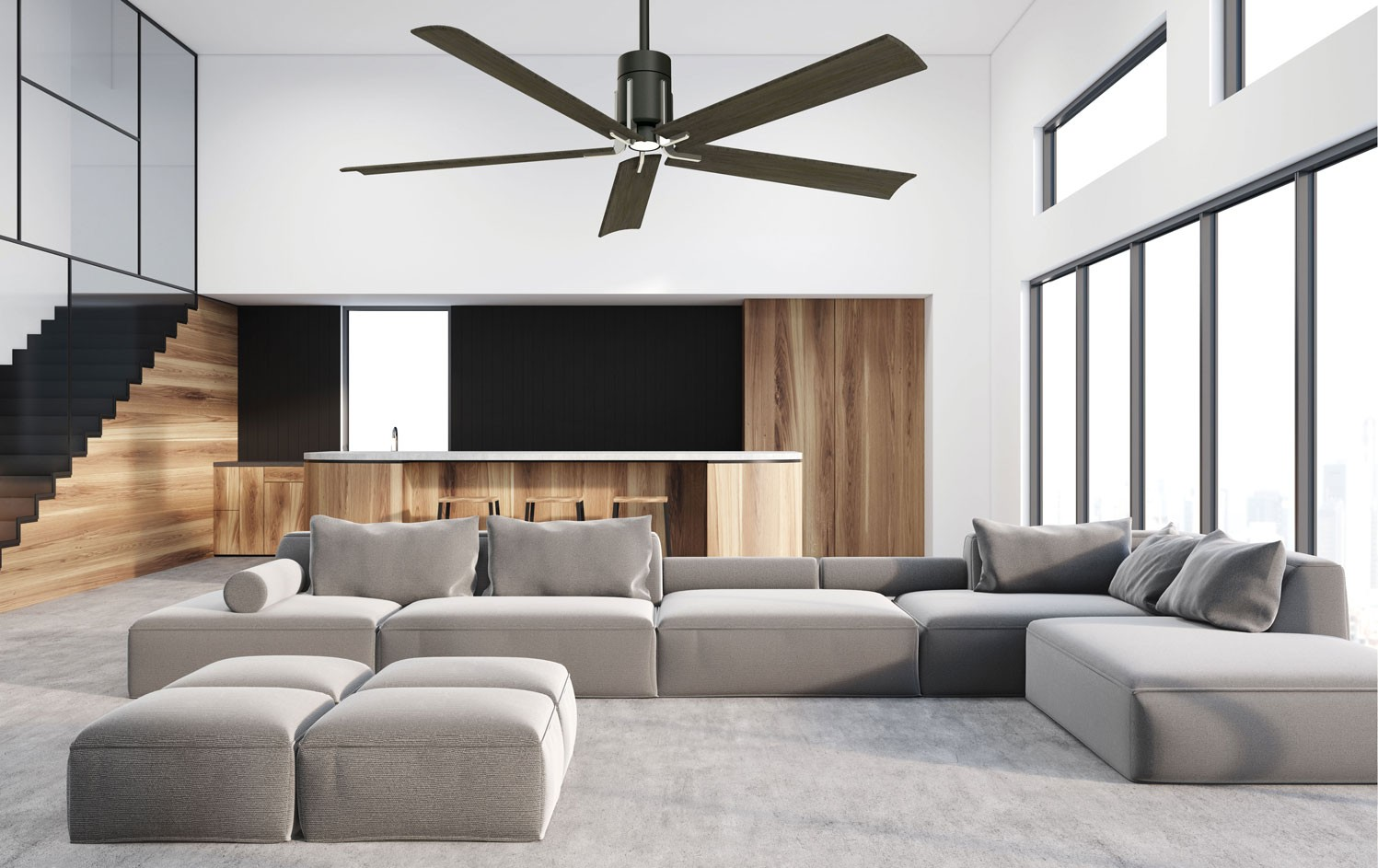 Clean ceiling fan with special handheld remote