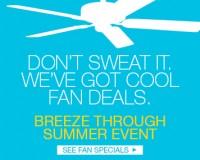 Breeze Thru Summer Fan Sale